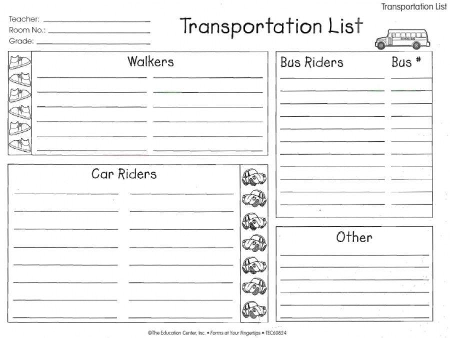 Love To Teach | Transportation List | Teacher, Student, and Parent ...
