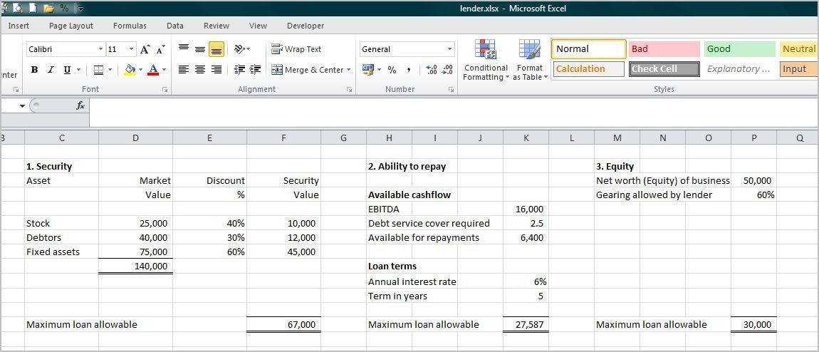 Small Business Loan Calculator | Double Entry Bookkeeping