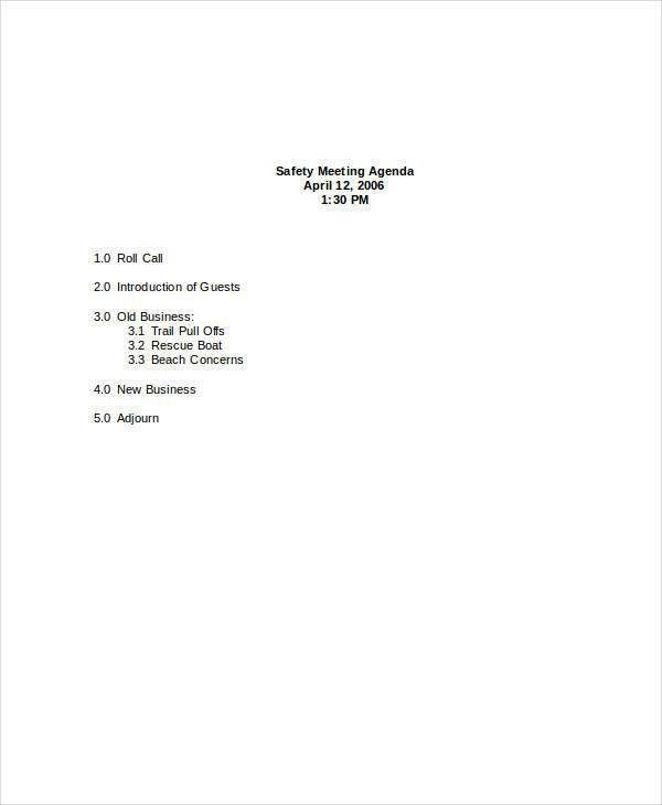 28+ Examples of Agenda in Word Format