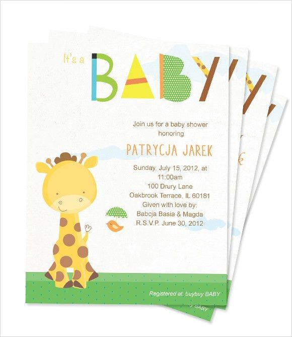 9+ Baby Shower Card Template - Free Samples , Examples , Formats