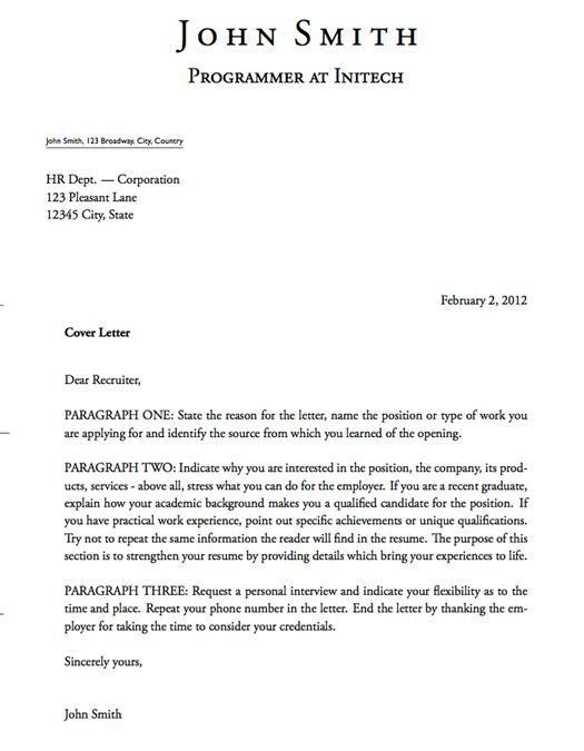 Template For Cover Letter. Customer Service Cover Letter Template ...