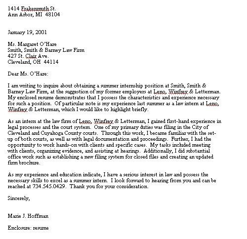 create my cover letter. choose. law firm clerk sample resume 2d ...