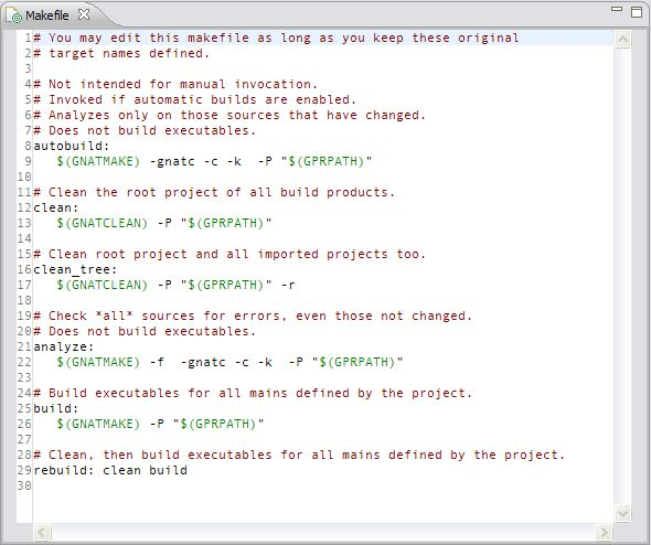 7.12. Building with Makefiles — GNATbench for Eclipse User's Guide ...