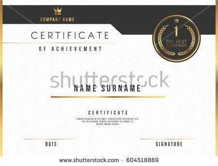 Vector Certificate Template Design Certificate Award Stock Vector ...