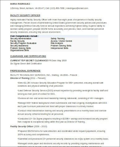 Security Officer Resume. Security Officer Job Description Template ...