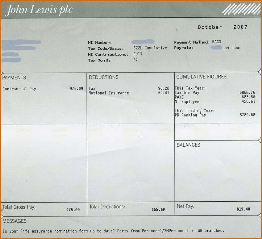 employee payslip template excel payslip template word excel ...
