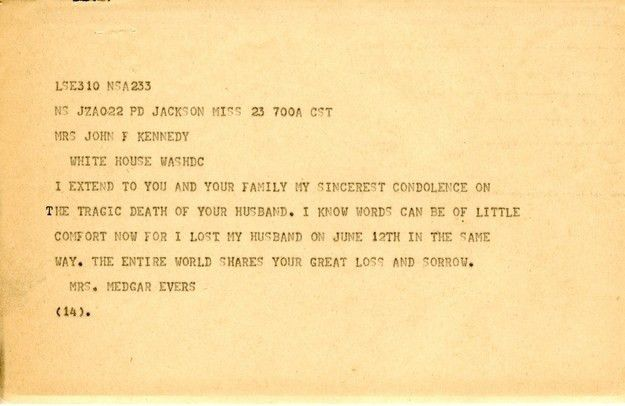 9 Heartfelt Condolence Letters Jackie Kennedy Received From Famous ...