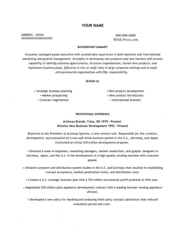 international internship resume objective. international business ...