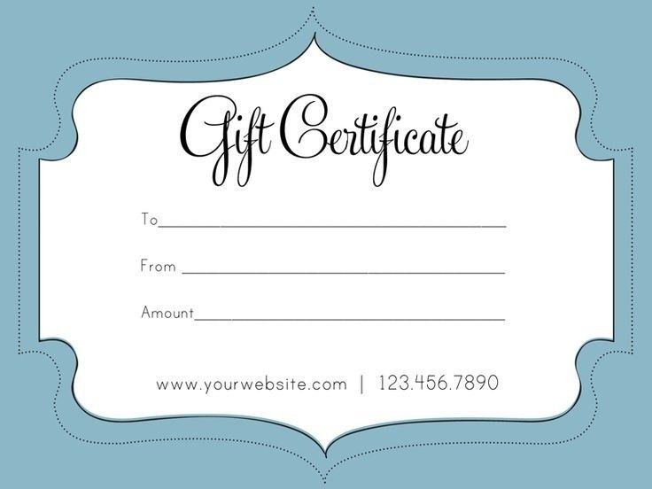 Printable Gift Certificate. Microsoft Bridal Shower Gift ...
