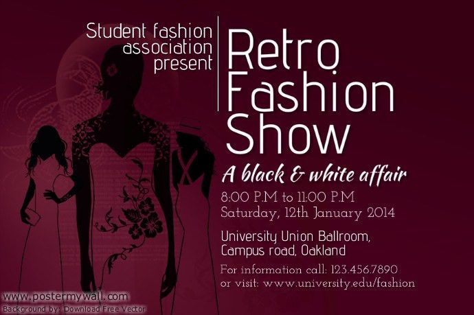 Student Fashion Show Poster Template | PosterMyWall