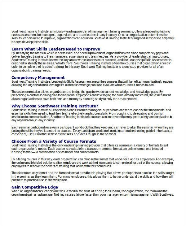 Skills Assessment Template   9+ Free Word, PDF Document Downloads .