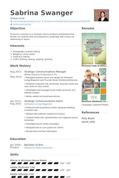 Communications Manager Resume samples - VisualCV resume samples ...