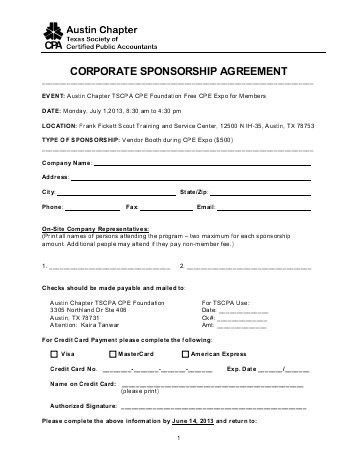 Sponsorship Agreement for Licensed Assistant