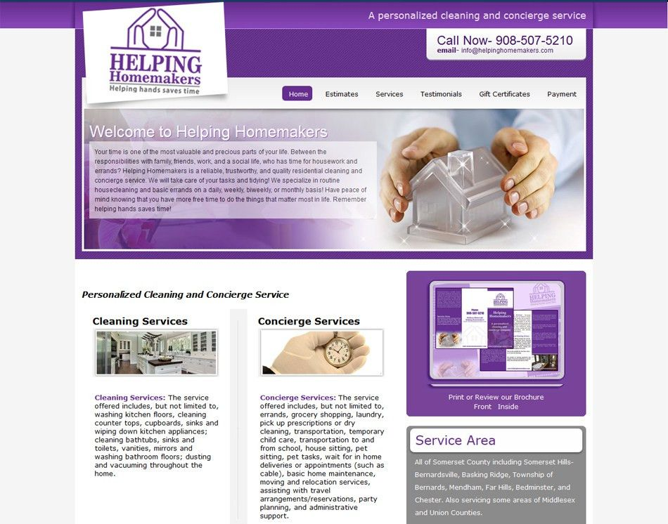 5 page cleaning company website design- Web site Development