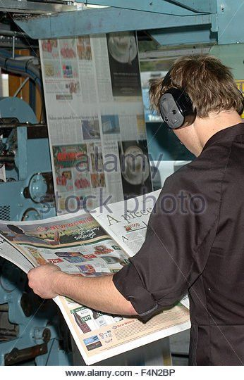 Newspaper In Printing Press Stock Photos & Newspaper In Printing ...