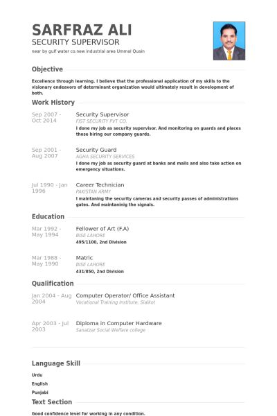 pretentious inspiration security supervisor resume 12 security - Sample Security Manager Resume
