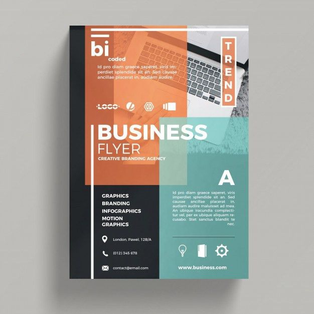 Abstract corporate business flyer template PSD file | Free Download