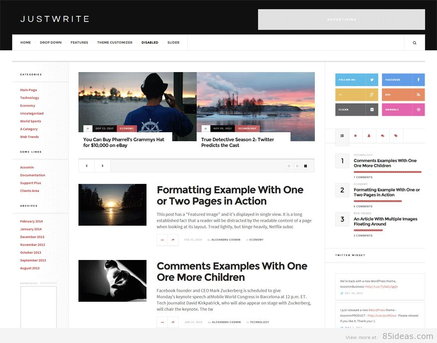 42+ Best Free Quality WordPress Magazine News Themes - 85ideas.com
