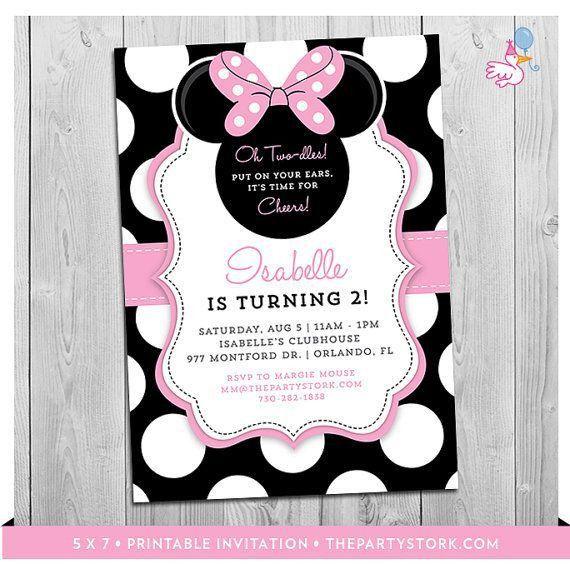 Get 20+ Minnie mouse birthday invitations ideas on Pinterest ...