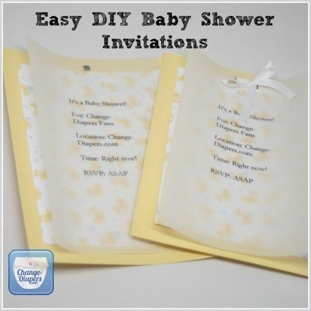 Printable Cloth Diaper Baby Shower Invitations & DIY Fluffin' Awesome