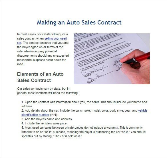 Sales Contract Template – 10+ Free Word, PDF Documents Download ...