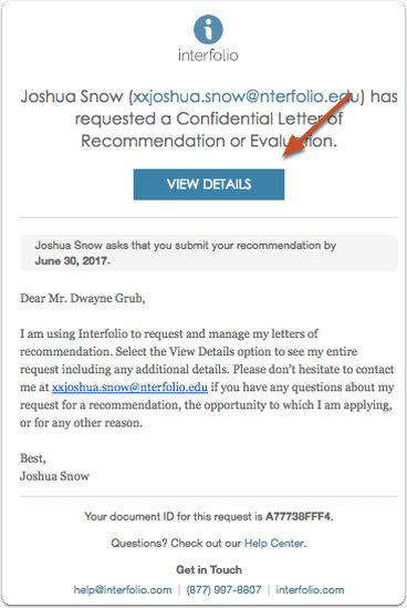 Submit a Letter of Recommendation to Interfolio | Help for Letter ...