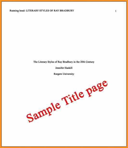 8+ example of title page | cook resume