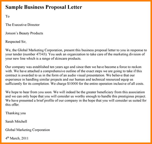 9+ how to write proposal letter for business | Proposal Template 2017