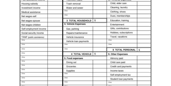 Simple Personal Budget Template Excel Monthly Expense Spreadsheet ...
