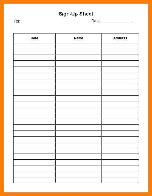 6+ sign up sheet template | bibliography formated
