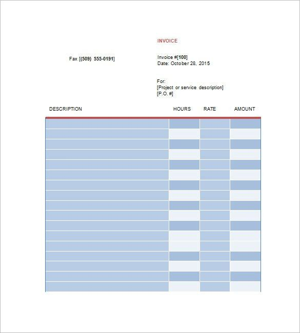Designing Invoice Template – 10+ Free Word, Excel, PDF Format ...