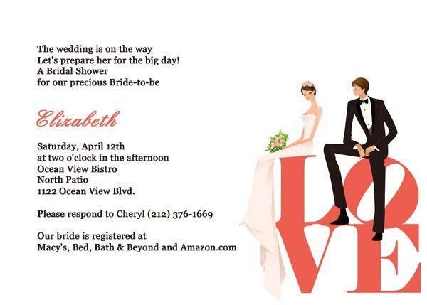 Love – Bridal Shower Invite ← Wedding Invitation Templates ...
