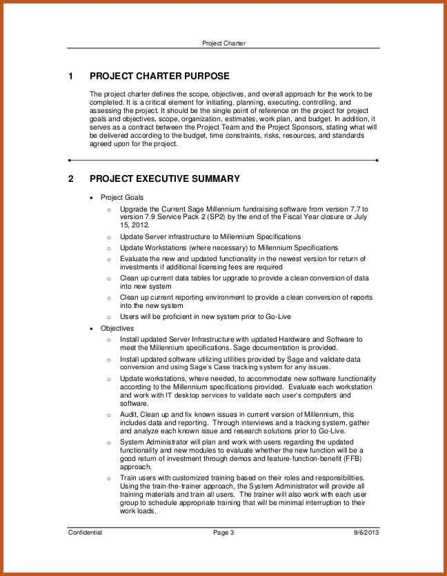 project charter examples | sop example