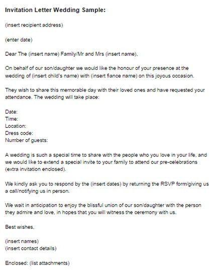 Invitation Letter For Business Presentation | Create professional ...
