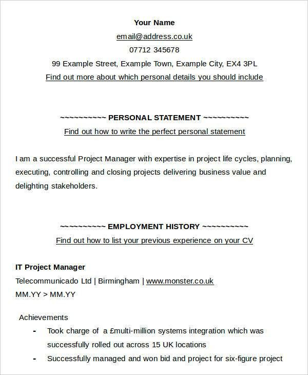 Resume Name Examples For Monster. ohse management plan. resume ...