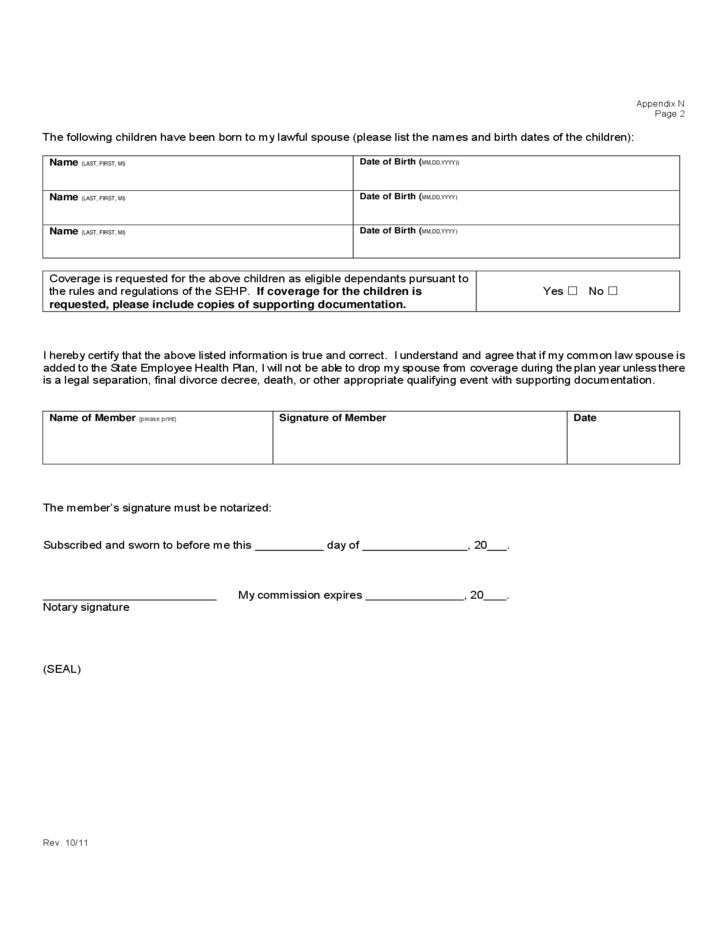 Affidavit of Common Law Marriage Form - Kansas Free Download