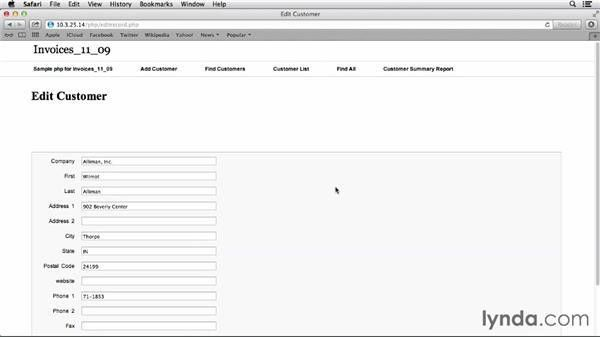 Example of a FileMaker PHP application
