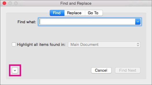 Find and replace text or formatting in Word for Mac - Word for Mac
