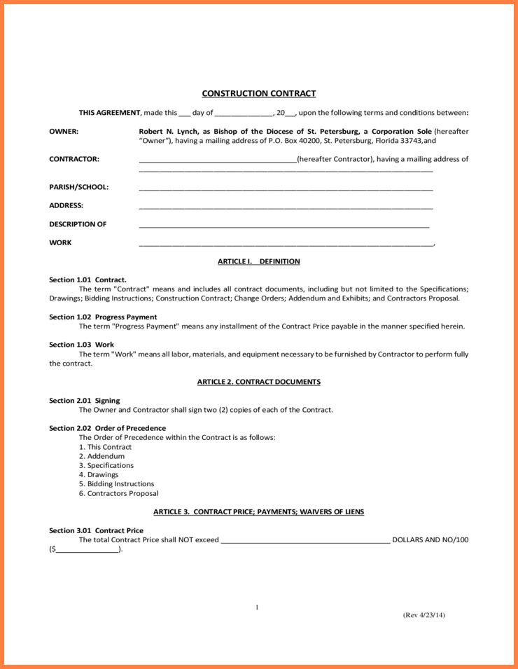 Simple Construction Contract.Construction Contract.jpg - Sales ...