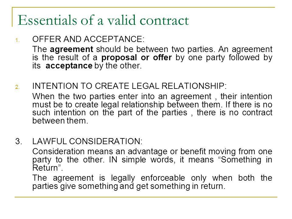 "THE INDIAN CONTRACT ACT, Section 2 (h) defines a contract as "" an ..."