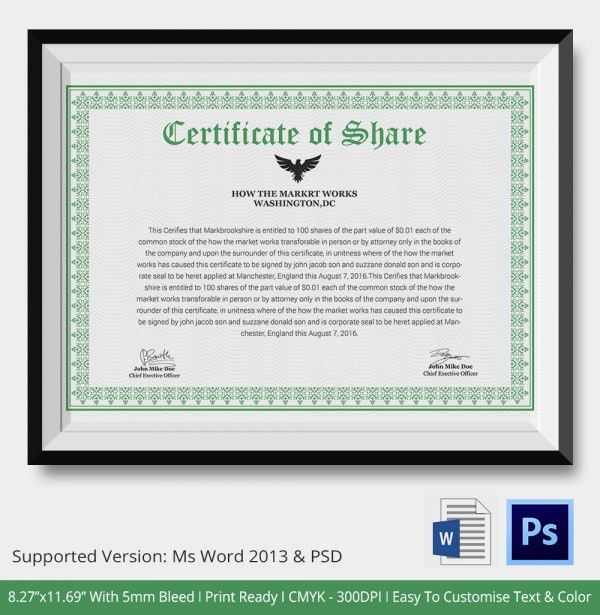 Professional Certificate Template - 10+ Free PDF, PSD, Vector, Eps ...