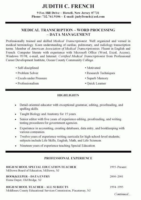 20+ Standard Resume Format Sample | Professional Cv Cv0304 ...