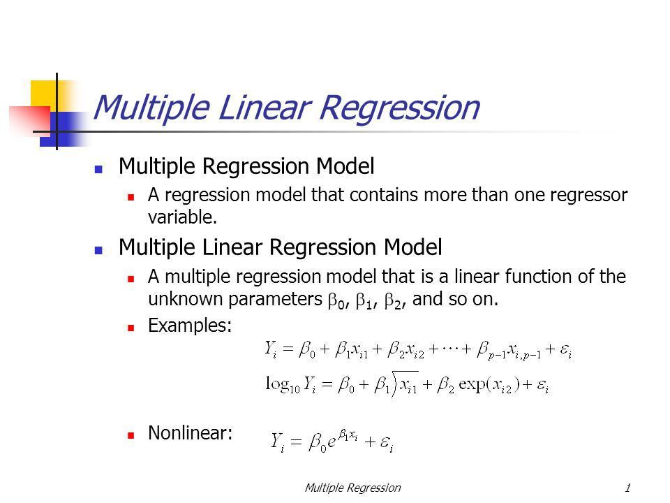 Multiple Linear Regression - ppt video online download