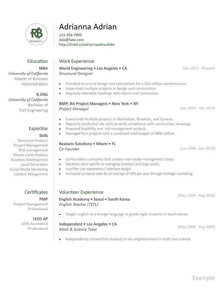 28 best Resume Ideas images on Pinterest | Resume ideas, Resume ...