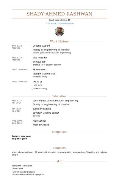 College Student Resume samples - VisualCV resume samples database