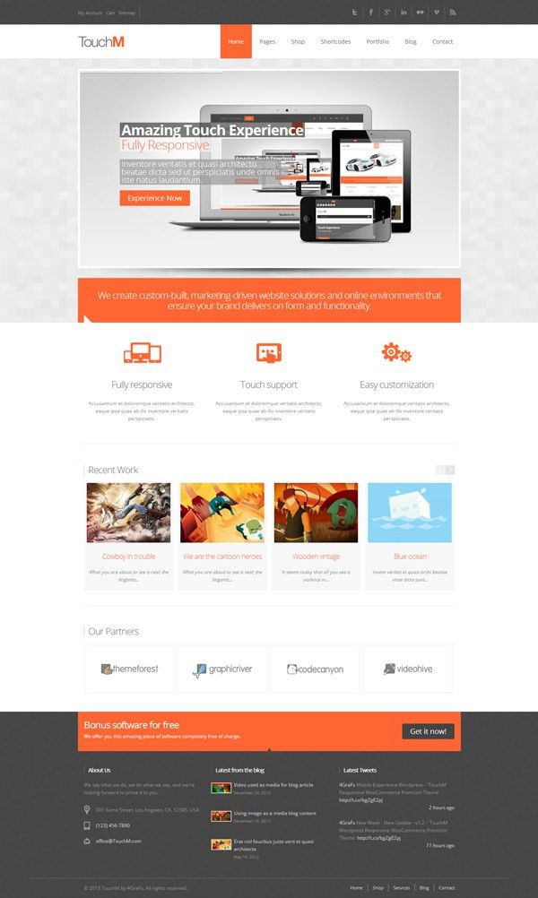 30 Impressive WordPress Themes of January 2013 - JoomlaVision