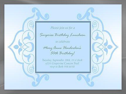 invitation birthday template word