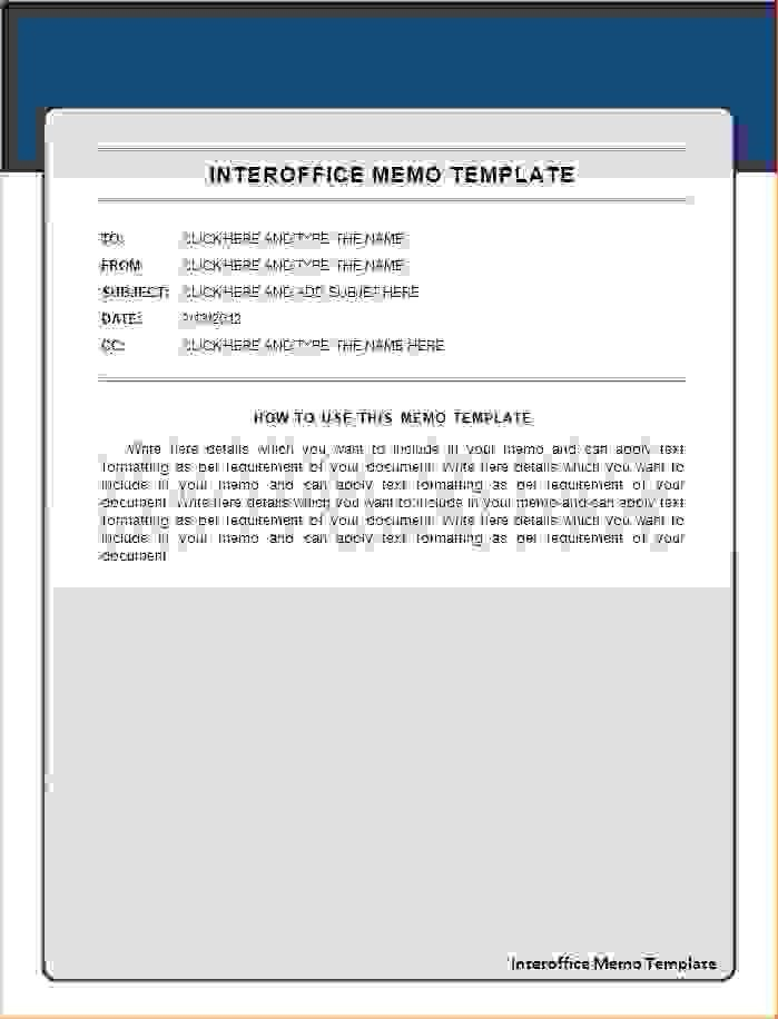 7+ interoffice memoReport Template Document | report template