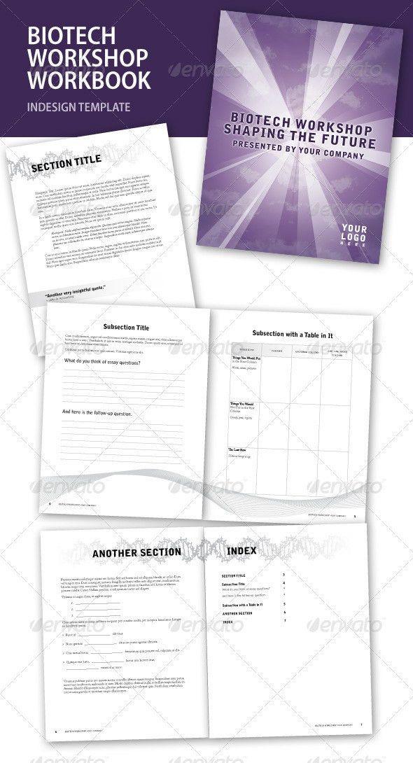 Biotech Workshop InDesign Workbook | Adobe indesign, Adobe and ...