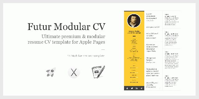 Futur Modular resume template – exclusively for Apple Pages ...